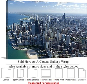 "Sears Tower American Landmark Chicago Illinois-52 Canvas Wrap 30"" x 20"""