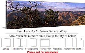 "Grand Canyon National Park in Arizona Landscape-48 Canvas Wrap 48"" x 16"""