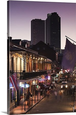 New Orleans, Louisiana Bourbon Street Panorama Picture