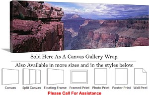 "Grand Canyon National Park in Arizona Landscape-3 Canvas Wrap 48"" x 15"""