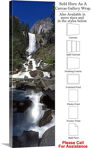 "Yosemite National Park an American Landmark CA-12 Canvas Wrap 15"" x 48"""