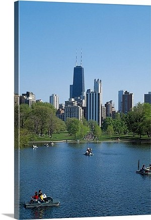 Chicago, Illinois Paddleboats Panorama Picture