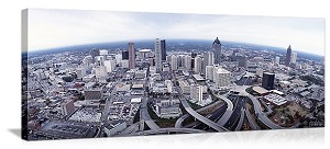 Atlanta Georgia Aerial view of the city Panoramic Picture