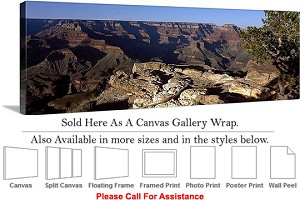 "Grand Canyon National Park in Arizona Landscape-26 Canvas Wrap 48"" x 16"""