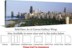 "Sears Tower American Landmark Chicago Illinois-12 Canvas Wrap 48"" x 16"""