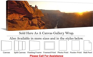 "Grand Canyon National Park in Arizona Landscape-86 Canvas Wrap 48"" x 16"""
