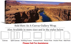 "Grand Canyon National Park in Arizona Landscape-50 Canvas Wrap 48"" x 16"""