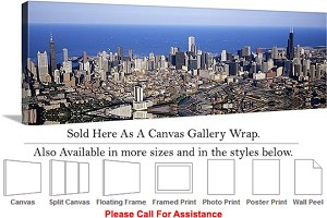 "Sears Tower American Landmark Chicago Illinois-34 Canvas Wrap 48"" x 16"""