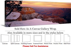 "Grand Canyon National Park in Arizona Landscape-27 Canvas Wrap 48"" x 16"""
