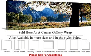 "Yosemite National Park an American Landmark CA-20 Canvas Wrap 48"" x 15"""