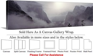 "Yosemite National Park an American Landmark CA-24 Canvas Wrap 48"" x 15"""