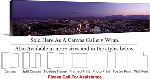 "Las Vegas The Strip American Landmark in Nevada-83 Canvas Wrap 48"" x 15"""