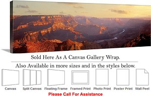 "Grand Canyon National Park in Arizona Landscape Canvas Wrap 48"" x 15"""