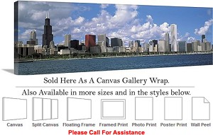 "Sears Tower American Landmark Chicago Illinois-24 Canvas Wrap 48"" x 15"""
