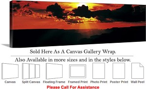 "Grand Canyon National Park in Arizona Landscape-65 Canvas Wrap 48"" x 15"""