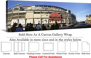 "Wrigley Field America Landmark Chicago Illinois-12 Canvas Wrap 48"" x 15"""