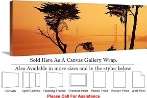 "Golden Gate Bridge View San Francisco California-3 Canvas Wrap 48"" x 16"""