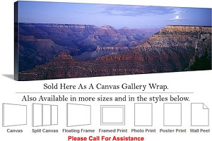 "Grand Canyon National Park in Arizona Landscape-10 Canvas Wrap 48"" x 16"""