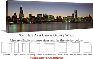 "Sears Tower American Landmark Chicago Illinois-3 Canvas Wrap 48"" x 15"""