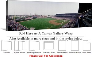 "Wrigley Field America Landmark Chicago Illinois-17 Canvas Wrap 48"" x 16"""