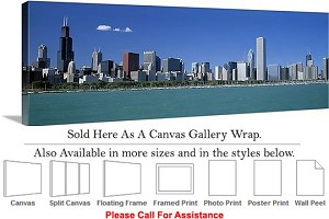"Sears Tower American Landmark Chicago Illinois-8 Canvas Wrap 48"" x 16"""