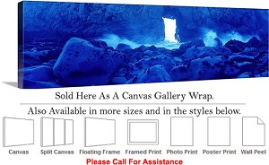 "Big Sur Pfeiffer State Beach California Landscape Canvas Wrap 48"" x 16"""