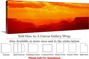 "Grand Canyon National Park in Arizona Landscape-30 Canvas Wrap 48"" x 16"""