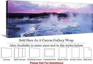 "Yellowstone National Park American Landmark WY-9 Canvas Wrap 48"" x 17"""