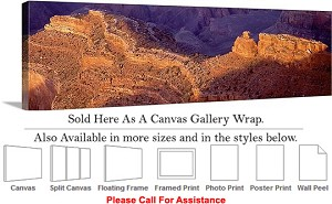 "Grand Canyon National Park in Arizona Landscape-79 Canvas Wrap 48"" x 16"""