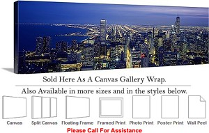 "Sears Tower American Landmark Chicago Illinois-41 Canvas Wrap 48"" x 15"""