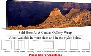 "Grand Canyon National Park in Arizona Landscape-88 Canvas Wrap 48"" x 16"""