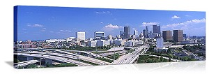 Elevated roads with buildings Atlanta Georgia Panoramic Picture