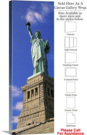 "Statue of Liberty an American Landmark New York-14 Canvas Wrap 16"" x 48"""