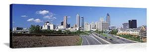 Freedom Parkway & skyline Atlanta GA Panoramic Picture