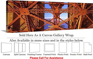 "Golden Gate Bridge at San Francisco California-23 Canvas Wrap 48"" x 15"""