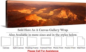 "Grand Canyon National Park in Arizona Landscape-63 Canvas Wrap 48"" x 15"""