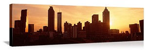Sunset skyline Atlanta GA Panoramic Picture