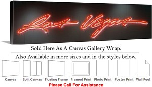 "Las Vegas The Strip American Landmark in Nevada-46 Canvas Wrap 48"" x 17"""