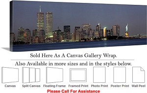 "Statue of Liberty an American Landmark New York-2 Canvas Wrap 48"" x 15"""