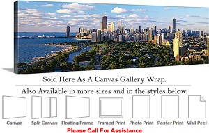 "Sears Tower American Landmark Chicago Illinois-6 Canvas Wrap 48"" x 15"""