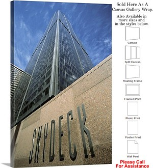 "Sears Tower American Landmark Chicago Illinois-56 Canvas Wrap 20"" x 30"""