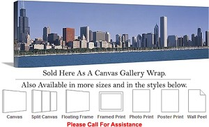 "Sears Tower American Landmark Chicago Illinois-49 Canvas Wrap 48"" x 15"""