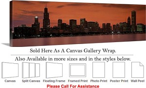 "Sears Tower American Landmark Chicago Illinois-39 Canvas Wrap 48"" x 15"""