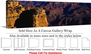 "Grand Canyon National Park in Arizona Landscape-90 Canvas Wrap 48"" x 15"""