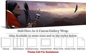 "Grand Canyon National Park in Arizona Landscape-31 Canvas Wrap 48"" x 16"""