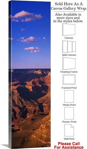 "Grand Canyon National Park in Arizona Landscape-67 Canvas Wrap 15"" x 48"""