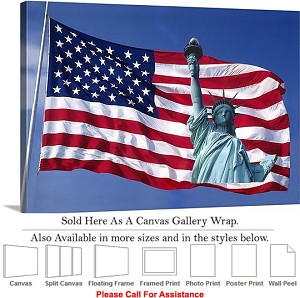 "Statue of Liberty an American Landmark New York-24 Canvas Wrap 30"" x 20"""