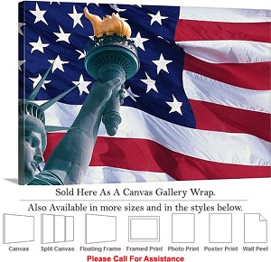 "Statue of Liberty an American Landmark New York-8 Canvas Wrap 30"" x 20"""
