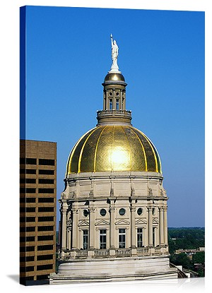Georgia State Capitol Dome Atlanta GA Panoramic Picture
