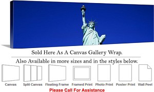 "Statue of Liberty an American Landmark New York-45 Canvas Wrap 48"" x 15"""